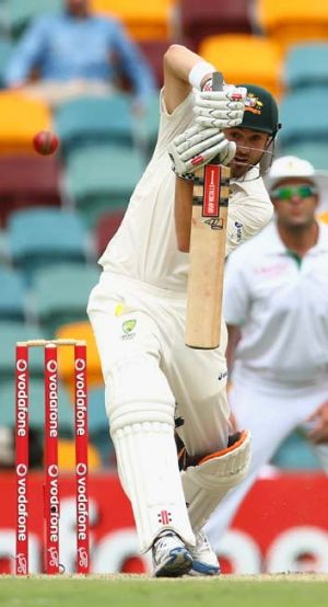 Scrutinised … Ed Cowan scored a breakthrough Test century in Brisbane against South Africa but that has not ...