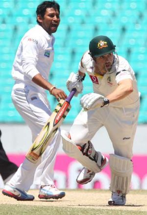 Opening gambit: Ed Cowan's place in the Australian team has been put under pressure.