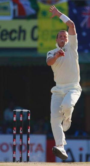 Suited: Peter Siddle can fire in India.