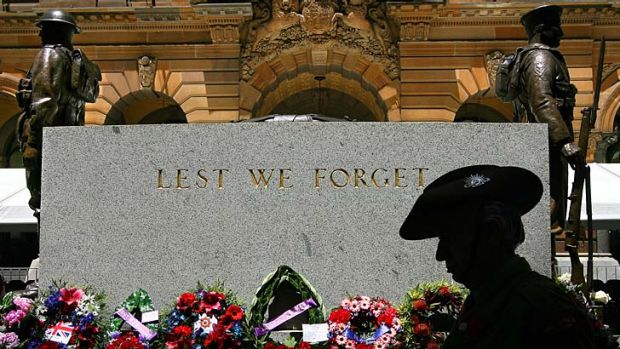 Subjected to repeat vandalism ... the Cenotaph in Martin Place.