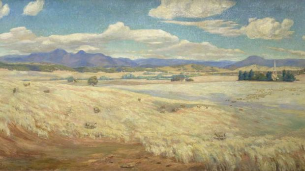 Not a placegetter, but A. E. McDonald's painting <i>Early Canberra 1913</i> is a generous, spacious work and you can ...