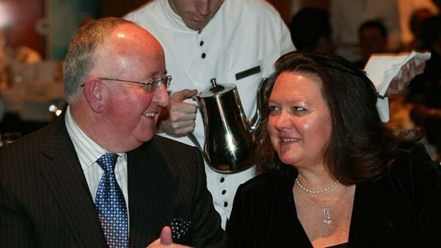 Gina Rinehart and Sam Walsh.