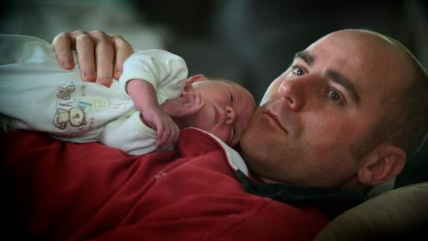 Tim Cleve with son Ned. Tim died just a few months after Ned's birth.