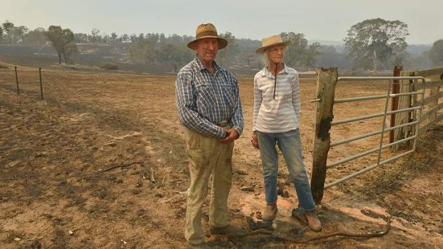 'It just burnt and burnt and burnt and you couldn't see anything for the smoke,' said farmer Dick Chester, who stayed ...