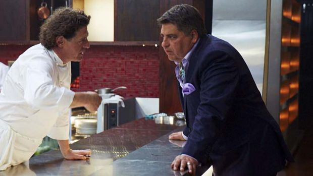 <em>MasterChef</em> with a twist ... Marco Pierre White and Matt Preston in the kitchen.