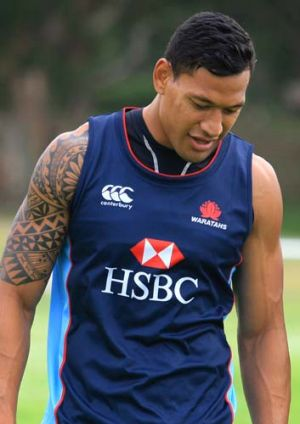 Plenty of promise … Israel Folau at NSW training.