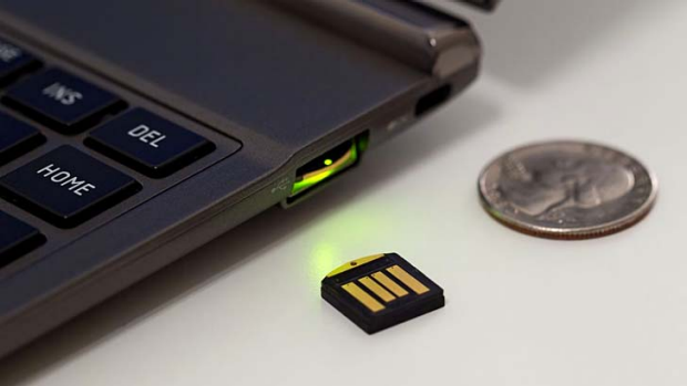 The Yubikey, which Google has confirmed it is testing.