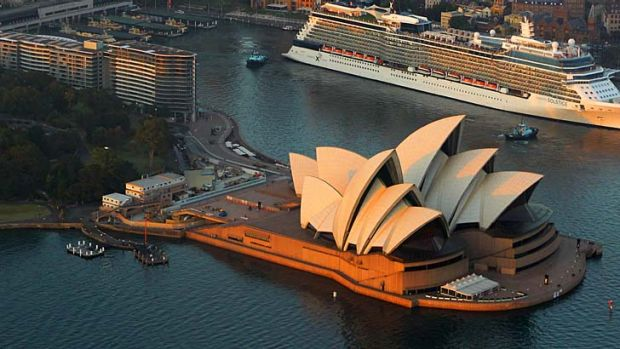 Sponsor flies in ... Sydney Opera House to take an international focus.