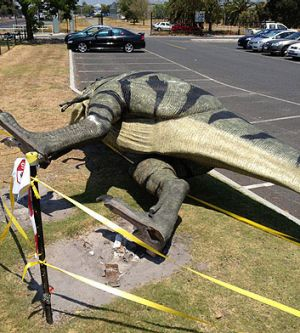 The dinosaur was designed and imported from the US.