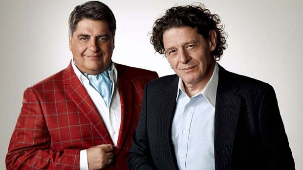 Ready to serve ... Matt Preston and Marco Pierre White of <i>Masterchef The Professionals</i>.
