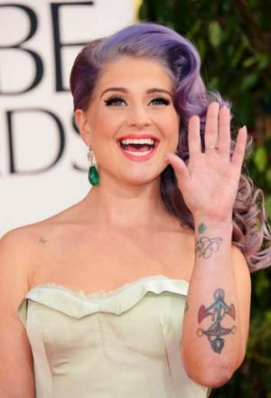 Pot calling the kettle fat ... Kelly Osbourne.
