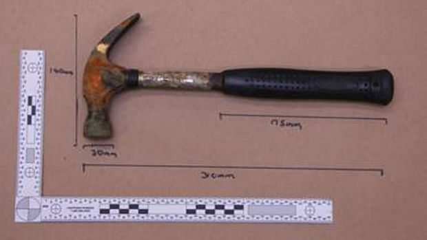 Hammer believed to have been used in murder of  Liselotte Watson on Macleay Island.