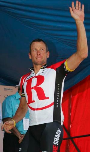 Disgraced: Lance Armstrong made millions by racing in South Australia's Tour Down Under.
