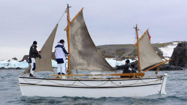 Shackleton Epic expedition crew onboard the Alexandra Shackleton in Admiralty Bay.