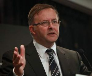 ''A little bit of positive'' … Minister for Infrastructure and Transport Anthony Albanese.