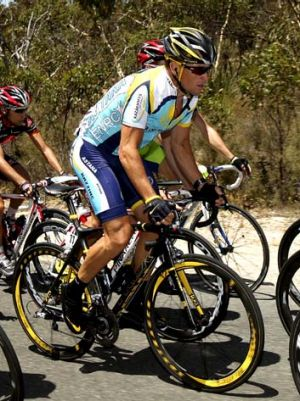Lance Armstrong ... in action during stage four of the 2009 Tour Down Under.
