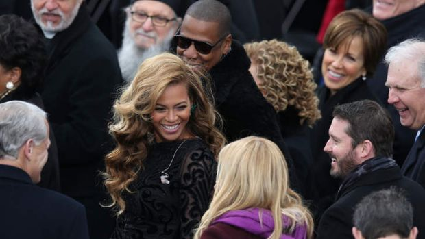 Star fans ... Beyonce and Jay-Z attend the inauguration.