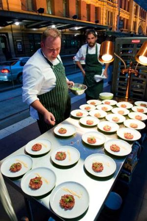 Raw deal ... Green Team serves up beef tartare.