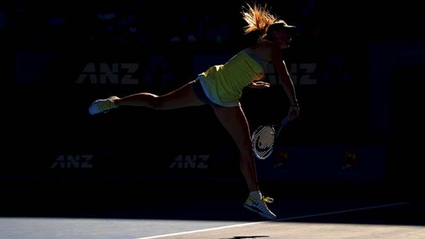 """""""Today was a matter of being focused"""" ... Maria Sharapova."""
