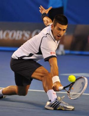 Back to his best ... Novak Djokovic.