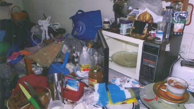 A picture taken inside the couple's home, that was tendered in court.