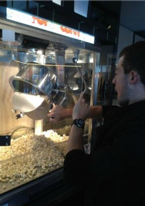 Healthy choice, extra virgin olive oil popcorn will be served to movie goers at Palace Electric in New Acton.