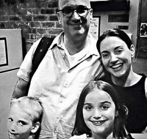 Family affair … the author with her husband, Jeff, and children David and Bea.