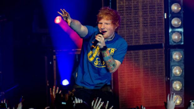 Ed Sheeran now knows how to tell an audience to shut up.