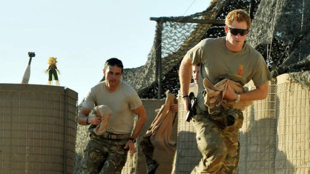 Prince Harry or just plain Captain Wales as he is known in the British Army, races to scramble his Apache with fellow ...