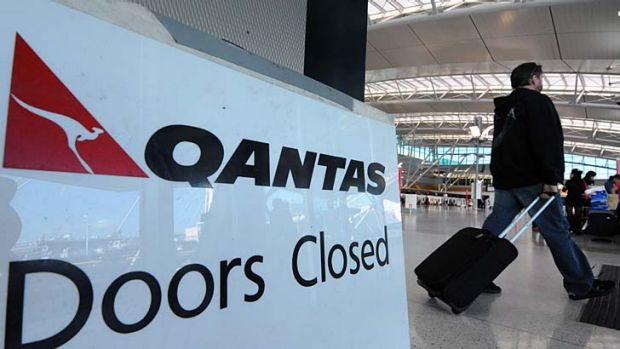 Check-out ... Qantas says it does not expect compulsory redundancies.