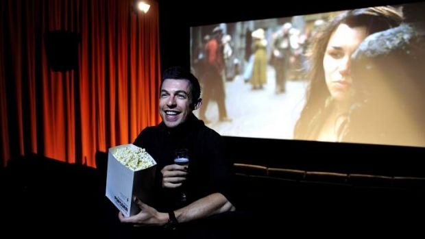 Palace Electric duty manager, Rob Lees,24 of Campbell in one of the new cinemas that will open to the public tonight.