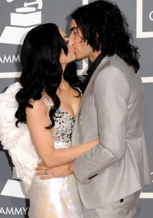 Singer Katy Perry and actor Russell Brand in 2011.