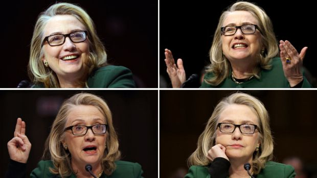 Fighting words … Hillary Clinton was accused of lying to avoid responsibility for the deadly attack on the US ...