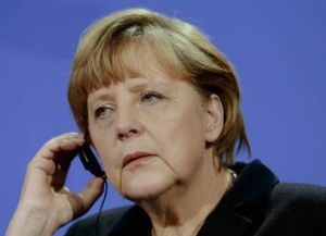 "Angela Merkel ... article criticised her for ""punishing"" the rest of Europe."