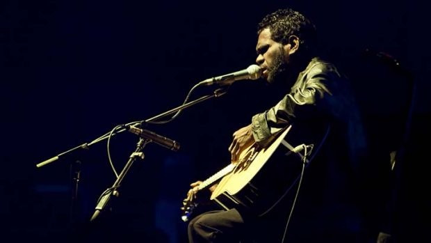 Leading line-up ... Gurrumul - with ARIA nominee Ash Grunwald - will headline the Festival of the Voice on various ...