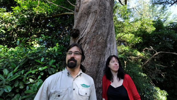 Survival Day organisers Davey Heller and Jane Thomas in Belgrave's Borthwick Park.
