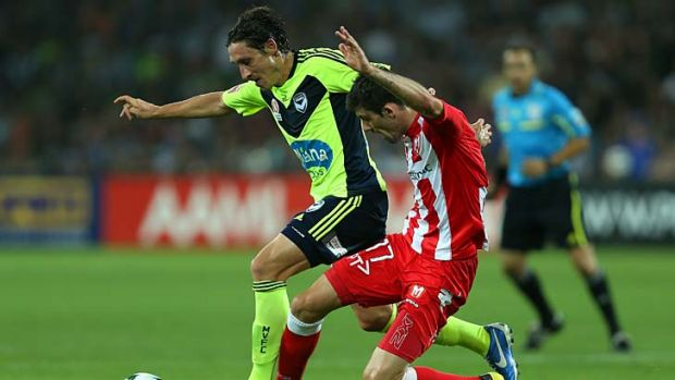 Key player: Victory's Mark Milligan is making an impression.