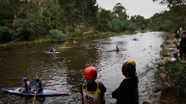 Kayakers on the Yarra at Warrandyte.