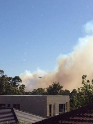 Water bombers are fighting fires with water from Lake Gwelup.