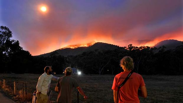 Fire in the Bungalow Spur behind Harriettville.