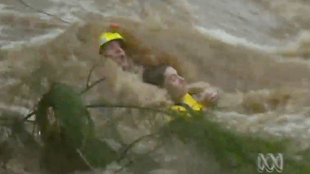 A teen is rescued in Rockhampton.