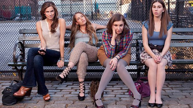 The cast of <i>Girls</i>: Allison Williams, Jemima Kirke, Lena Dunham and Zosia Mamet.
