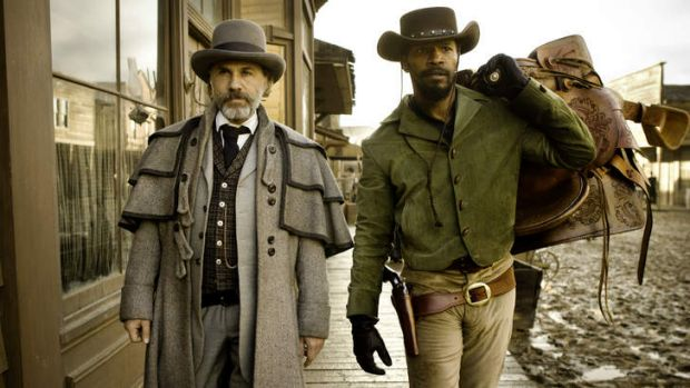 Blood brothers ... Schultz (Christoph Waltz) and Django (Jamie Foxx) are unlikely allies.