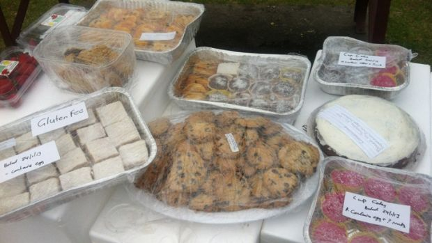 Not wanted ... Scores of treats baked by volunteers for firefighters were turned away.