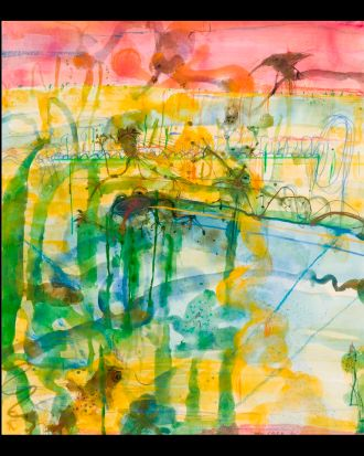 Sunset at the Lily Pond, John Olsen.