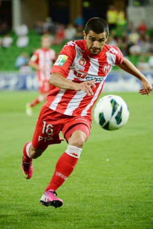 In demand: Aziz Behich of the Melbourne Heart.