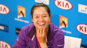 Always smiling: Li Na has been in superb form.