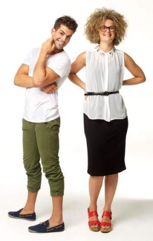 <b>Tom Langford</b> Clothing from Amuk, amuk.com.au, Stripe pocket tee, $49.95, Khaki chino,  $79.95. <br><b>Hannah ...