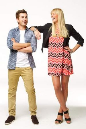 <b>Josh Powell</b> Clothes by Plane, planeclothes.com.au, Jesen Wale pant in khaki,  $119, Mary shirt in  blue check, ...