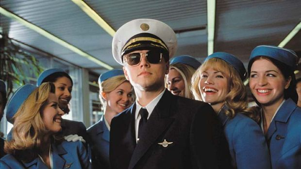DiCaprio as Frank Abagnale in <em>Catch Me If You Can</em>.